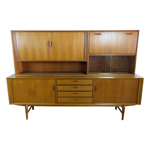 Mid Century Italian Teak Sideboard / Credenza For Sale - Image 12 of 12