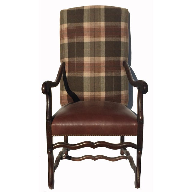 New Pair Country Arm Chairs Ralph Lauren Plaid - Image 2 of 9