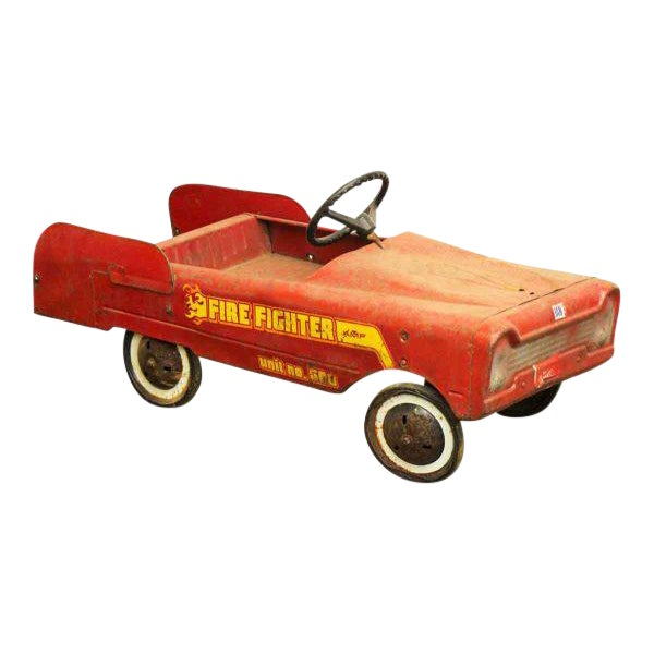 Vintage Child's Red Fire Engine For Sale