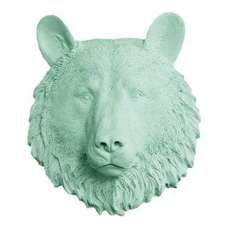 Wall Charmers Faux Mint Green Mini Bear Head Wall Sculpture