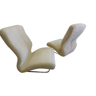 Pair of Rare Italian Mid-Century Modern / Space Age Lounge Chairs by IPE