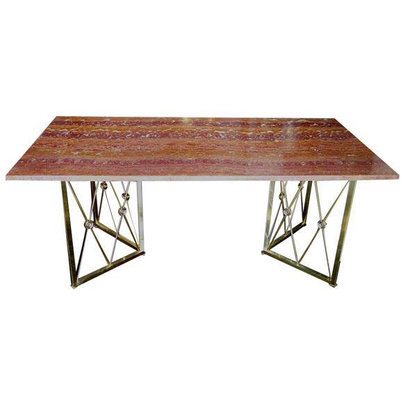 1950s Italian Onyx Desk For Sale - Image 4 of 4