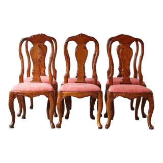 19th Century Set of Six Louis XIV French Country Style Carved Walnut Chairs