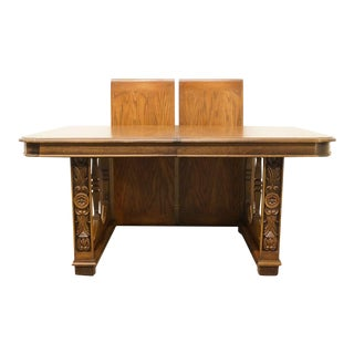Lane Furniture Spanish Revival Double Pedestal Dining Table 328-52 For Sale