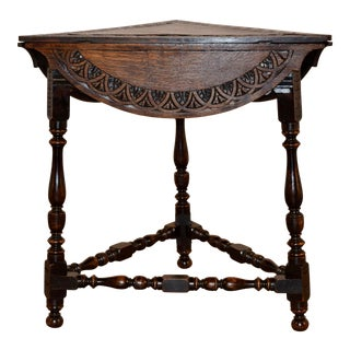 19th Century English Handkerchief Table For Sale