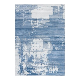 Blue Abstract Rug 5'3''x 7'7''