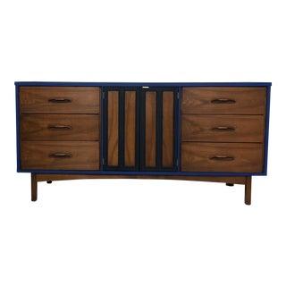 Mid-Century Modern 9-Drawer Dresser Credenza