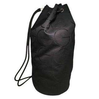 Rare Gucci Black Canvas Sling Backpack Bag For Sale