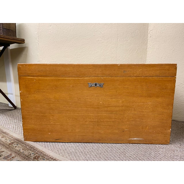 1920s Art Deco Pine Trunk For Sale - Image 13 of 13