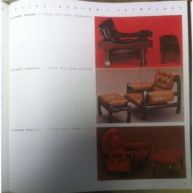 Black Luciano Frigerio 1970s Italian Mahogany Tan Leather Lounge Armchair & Ottoman For Sale - Image 8 of 10