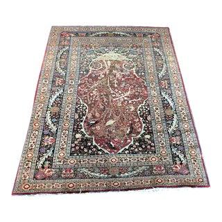 Early 20th Century Antique Persian Hadji Jalili Style Tabriz Area Rug - 4′1″ × 6′5″ For Sale