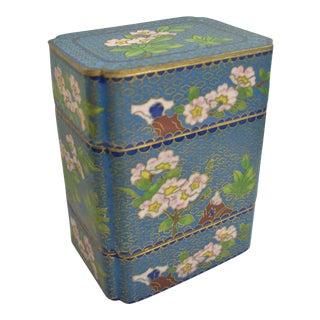 1960s Vintage Cloisonné Box For Sale