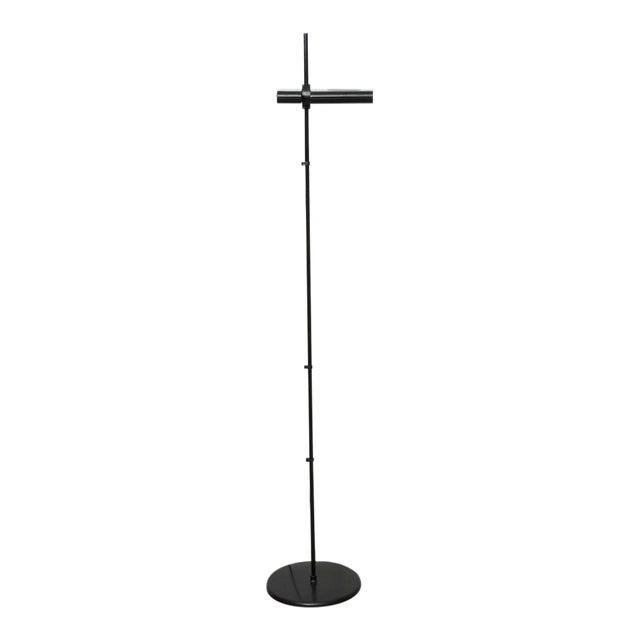 Vintage Artemide Minimalist Black Floor Lamp For Sale