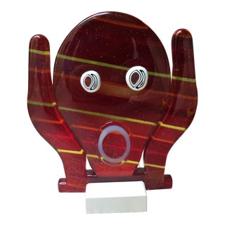 Italian Murano Art Glass Face For Sale