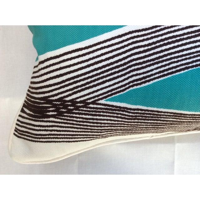 Mid-Century Modern Waves Lumbar Throw Pillow - Image 3 of 7