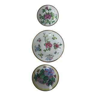 Chinoiserie Flower Wall Plates-3 Pieces