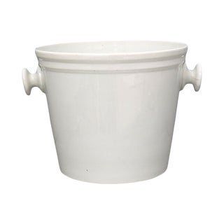 Antique French Porcelain Ice Bucket For Sale