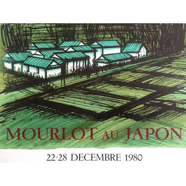 "Bernard Buffet Rare Vintage 1980 "" Mourlot Au Japon "" French Lithograph Print Exhibition Poster For Sale - Image 9 of 12"