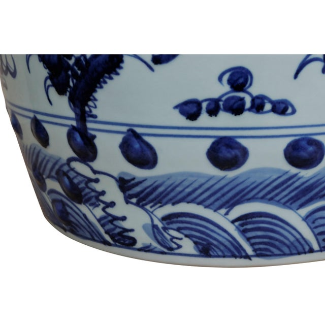 Chinese Blue & White Ceramic Garden Stool For Sale In Tampa - Image 6 of 7