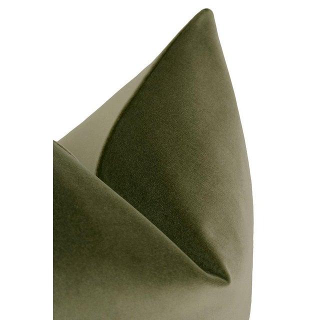 "22"" Bayleaf Velvet Pillows - a Pair For Sale - Image 4 of 5"