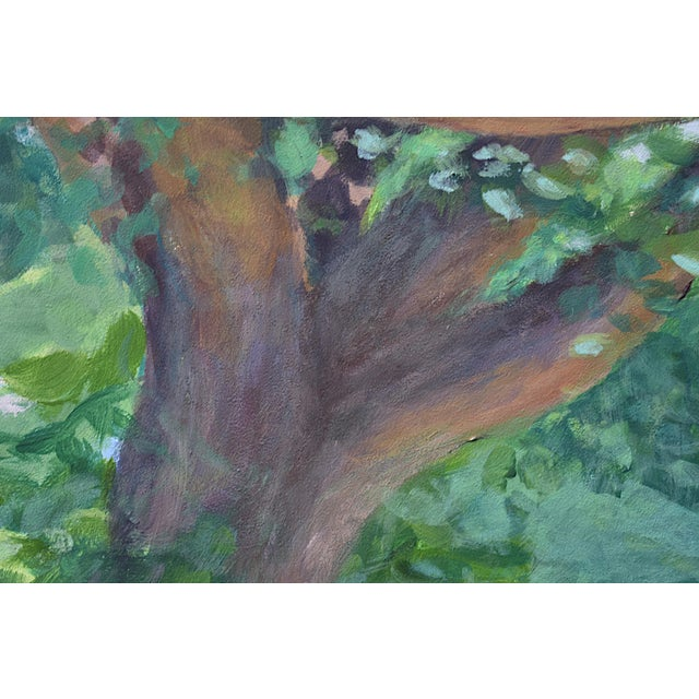 "Contemporary Contemporary ""Old Tree at AllensPond"" Plein Air Painting by Stephen Remick For Sale - Image 3 of 7"