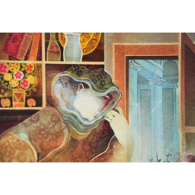 "Original Sunol Alvar Embossed Lithograph ""La Diligence and La Folie"" - Image 4 of 11"