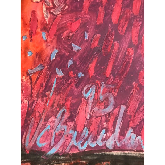 1995 Mixed Media Painting on Cotton Paper by Juan Carlos Breceda For Sale In Miami - Image 6 of 8