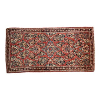 "Vintage American Sarouk Rug Runner - 2'2"" X 4'2"" For Sale"