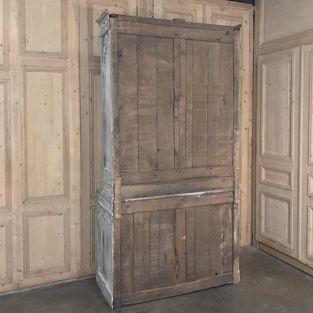 19th Century French Gothic Whitewashed Bookcase For Sale - Image 12 of 13