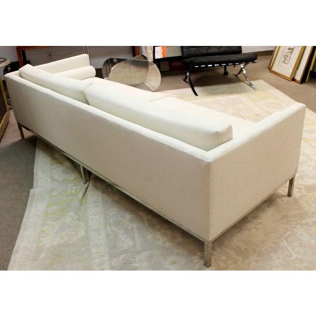 Metal Mid Century Modern B&b Italia Chrome Base Sofa Italy 1970s Baughman Era For Sale - Image 7 of 10