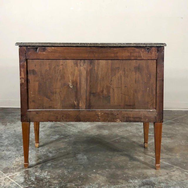 19th Century French Louis XVI ~ Directoire Style Marble Top Commode For Sale - Image 12 of 13