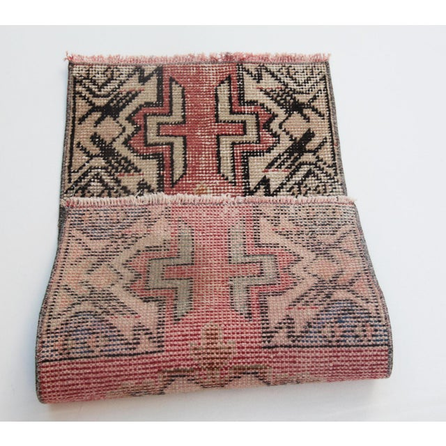 """1970s Turkish Wool Rug - 34"""" X 16"""" For Sale - Image 4 of 9"""