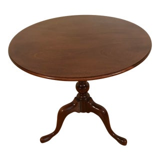 1970s Queen Anne Ethan Allen Carolinian Tilt-Top Tea Table For Sale