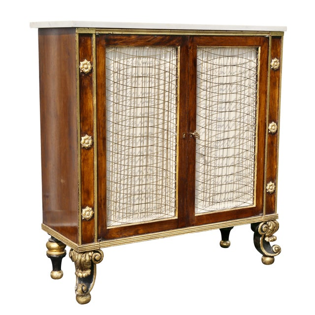 Regency Style Rosewood and Gilded Credenza For Sale - Image 11 of 11