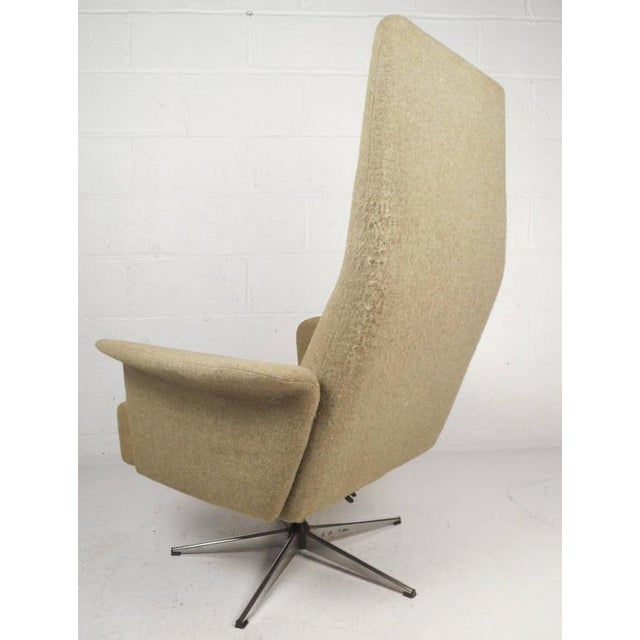 Mid-Century Modern Adjustable Danish Lounge Chair and Ottoman - Image 6 of 11