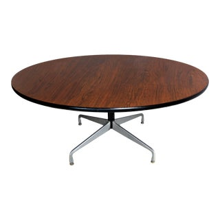 """Eames 60"""" Rosewood Table With Accessories for Herman Miller For Sale"""