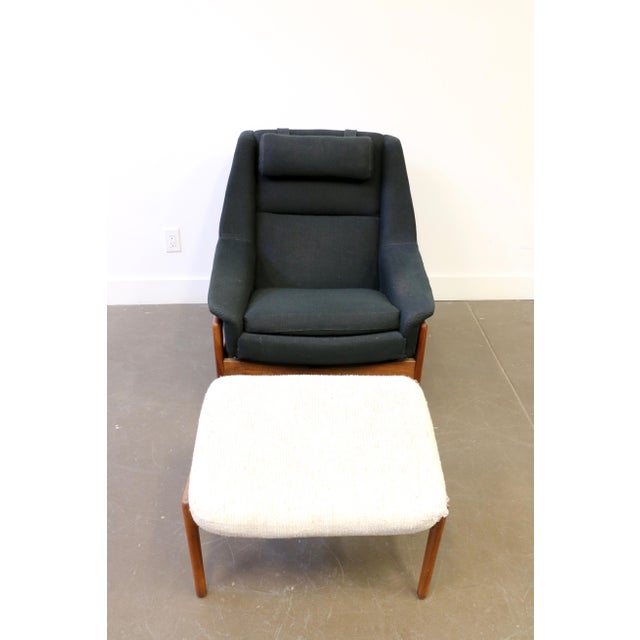 Folke Ohlsson for Dux Lounge Chair & Ottoman For Sale - Image 12 of 13