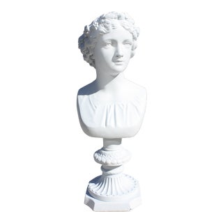 Vintage 1940s Neoclassical Style Female Bust For Sale