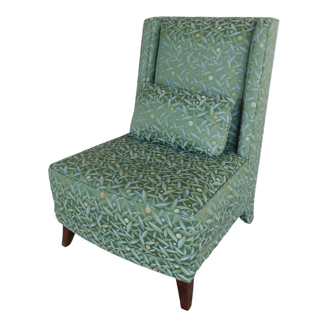 Baker Regency Style Slipper Chair For Sale