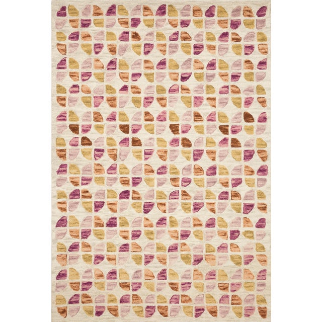 "Justina Blakeney X Loloi Rugs Hallu Rug, Ivory / Sunset - 7'9""x9'9"" For Sale"
