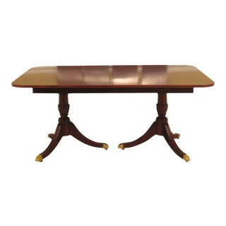 1990s Traditional Kindel Mahogany Duncan Phyfe Dining Room Table For Sale