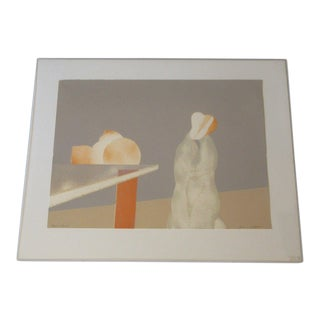 20th Century Modern Lithograph ofNude Figures and Fruit For Sale