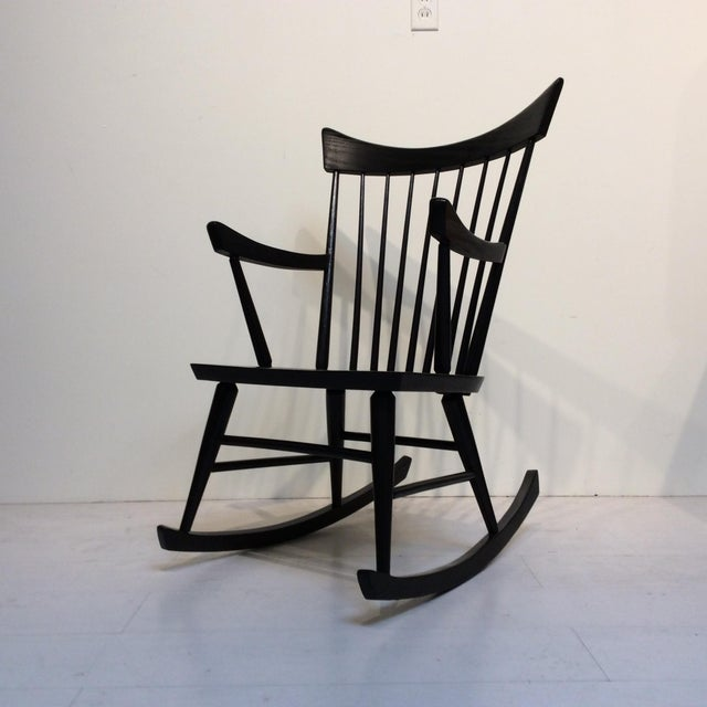 Ebony black rocking chair — pic 4