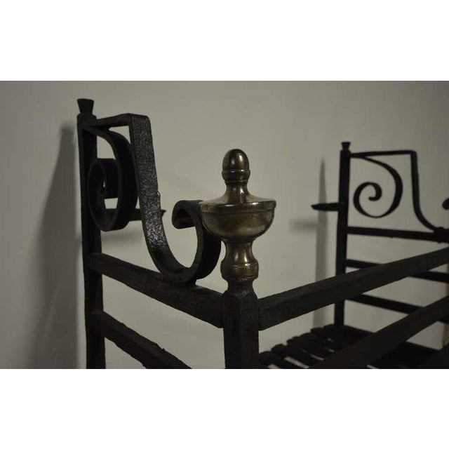 17th Century Dutch Iron Fire Grate For Sale - Image 4 of 10
