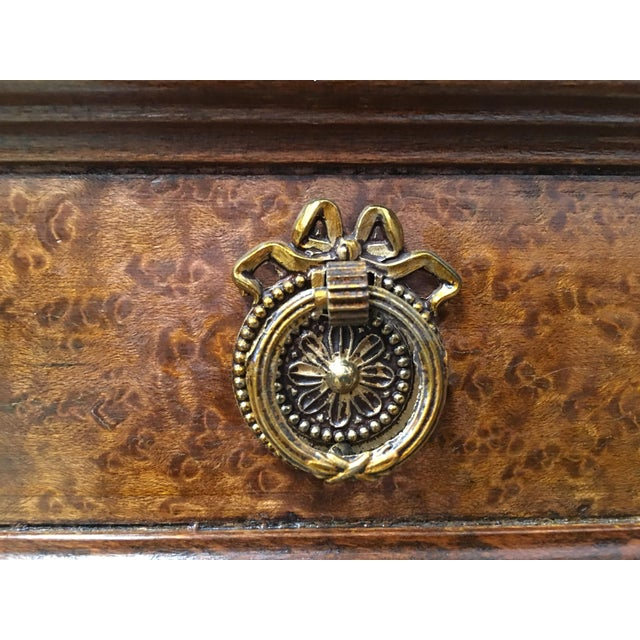 20th Directoire-Style Chest of Seven Drawers With Bronze Pulls, France For Sale - Image 10 of 11