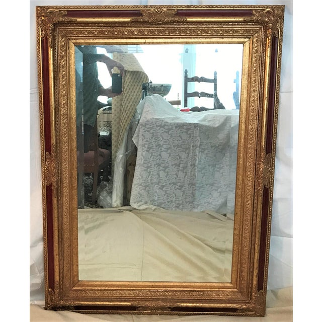 Neoclassical Beveled Faux Gilt Mirror - Image 2 of 4