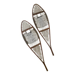 Vintage 20th Century Snowshoes - a Pair For Sale