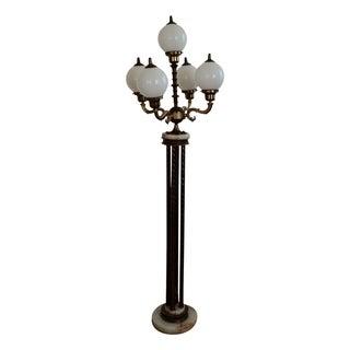 Mid-Century Saloon Bar Globe Floor Lamp For Sale