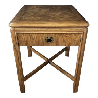 1960s Campaign Drexel Accolade Side Table For Sale