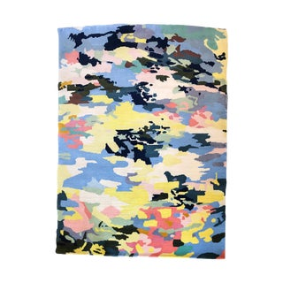 Hand Tufted Wool Lily Pond Rug - 5′ × 7′